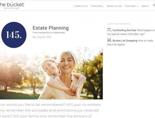 Estate Planning – From transaction to relationship